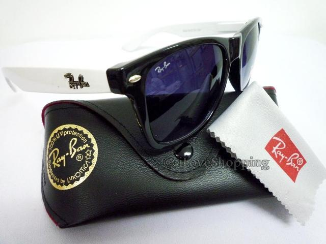 ray ban sunglasses white frame. ray ban wayfarer black white.