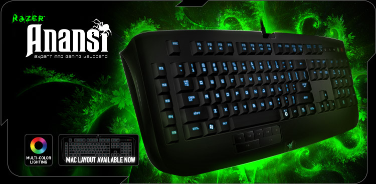RAZER ANANSI WIRED KEYBOARD (RZ03-00550100-R3M1) BLK