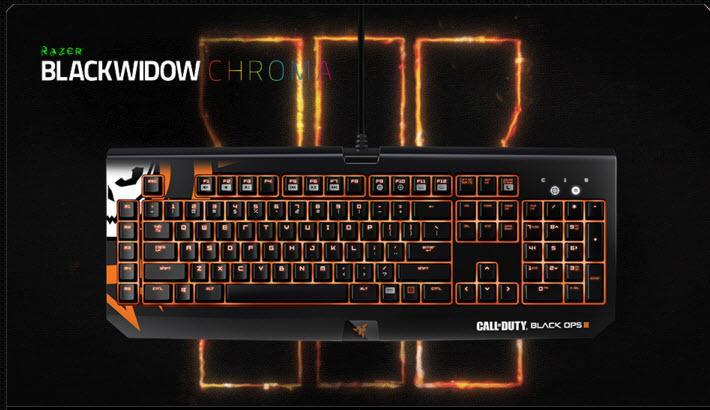 Razer Blackwidow Chroma Call of Duty Black Ops III Gaming Keyboard