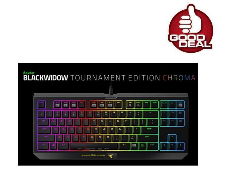 RAZER BLACKWIDOW TOURNAMENT CHROMA Mechanical Keyboard MULTI COLOR