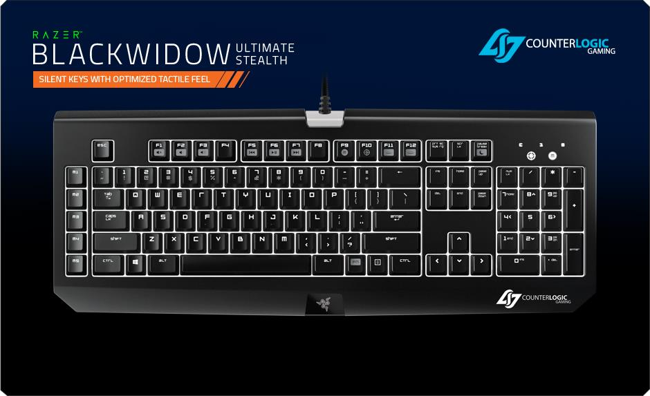Razer Blackwidow Ultimate 2014 Stealth CLG Edition