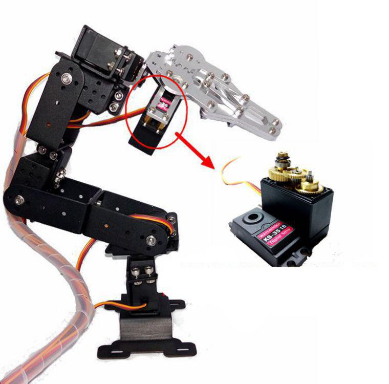 Ready built 6 dof aluminium alloy end 2 26 2018 12 15 pm Motor for robotic arm