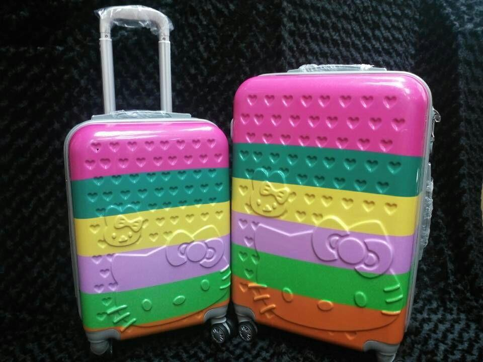 READY STOCK Colourful Hello Kitty Luggage (free shipping