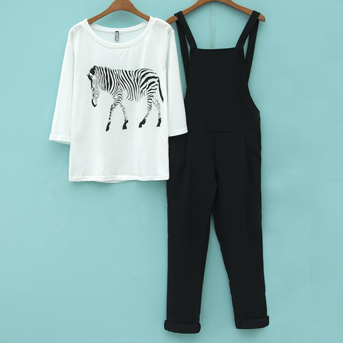 Ready Stock Cute Zebra Set Jumpsuits
