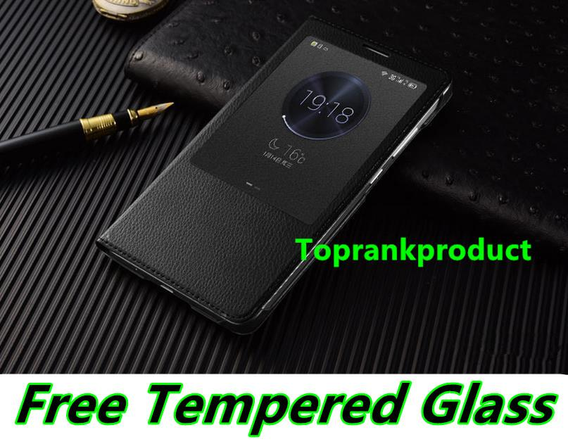 Ready Stock@ Huawei Mate 7 Mate7 Flip Case Cover Casing Tempered Glass