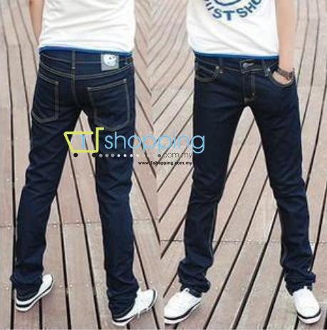 Ready Stock MCPJ00004 Korean Slim Fit  Long trousers / PantsJean