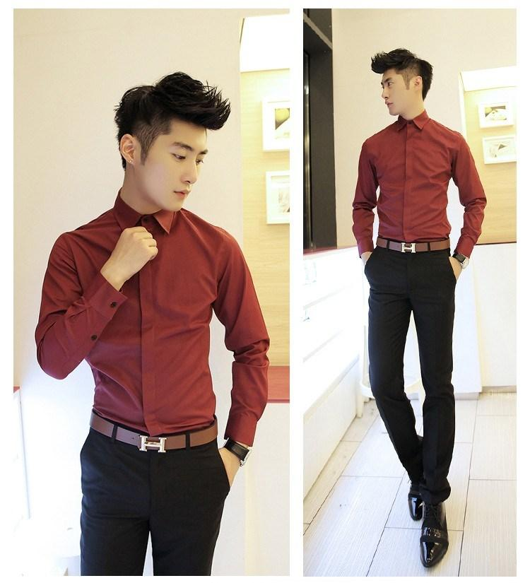 [Ready Stock] MS21 Korean style Men Long Sleeve Shirt