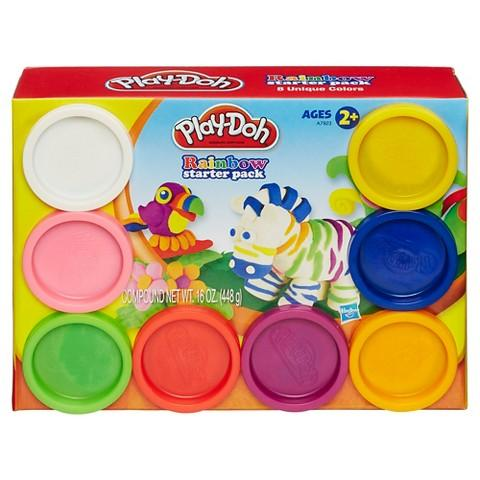 Ready Stock Play-Doh Play Doh Rainbow Starter Pack