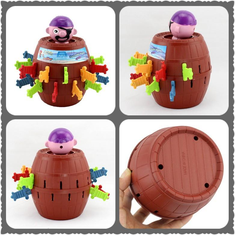 (READY STOCK) Running Man Pop Up Pirate Lord Barrel Roulette Toy Game
