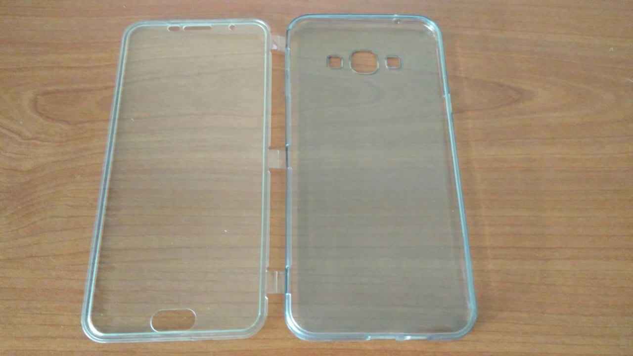 Ready Stock Samsung Galaxy A8 Transparent Flip Armor Case Cover Casing