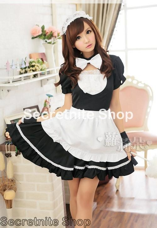 Ready Stock Sexy Black Maid Costumes with HairBand CO-68