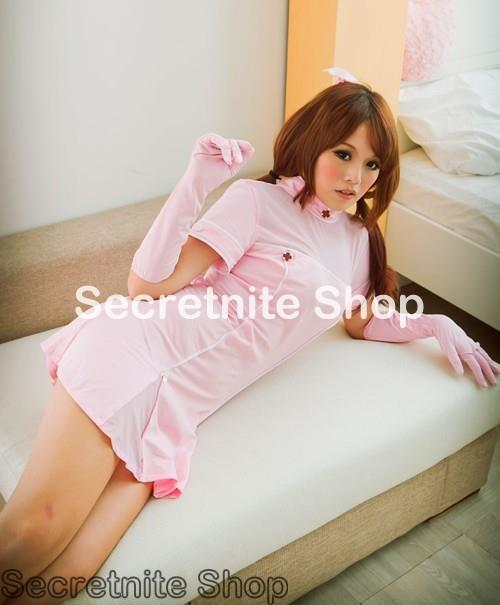 Ready Stock Sexy Pink Nurse Costumes CO-490