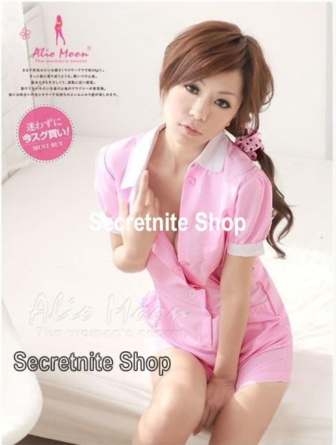 Ready Stock Sexy Pink Nurse Costumes with G-string CO-337