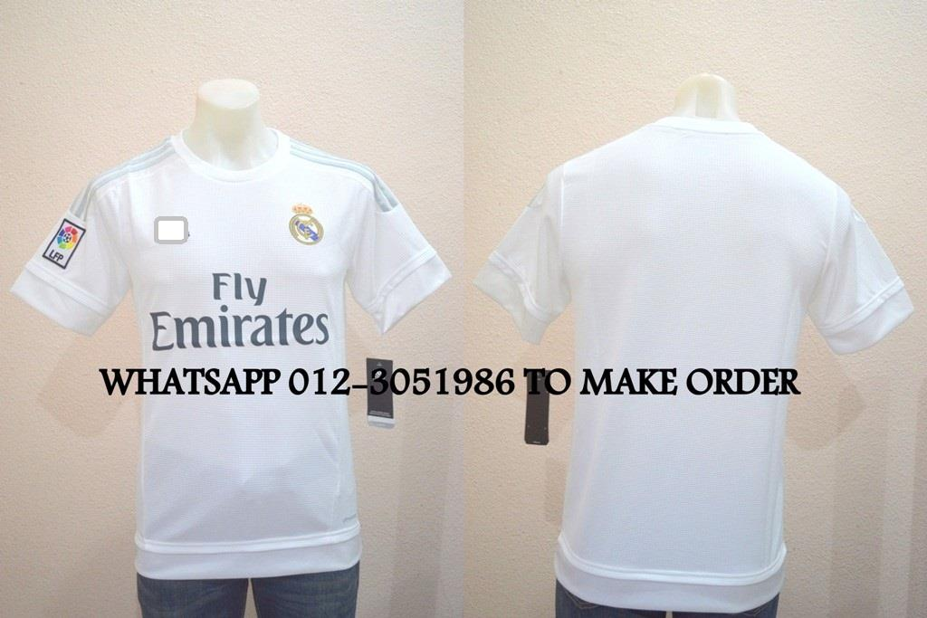 Real Madrid Home 2015/2016 Jersey/Jersi