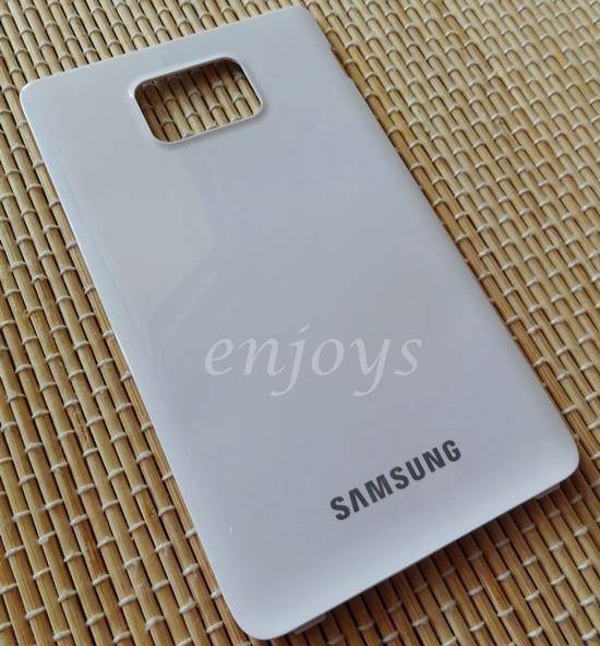 Real ORIGINAL HOUSING Battery Cover Samsung I9100 Galaxy S 2 II ~WHITE