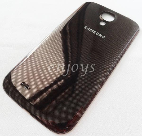 Real ORIGINAL HOUSING Battery Cover Samsung I9500 Galaxy S4 ~BROWN