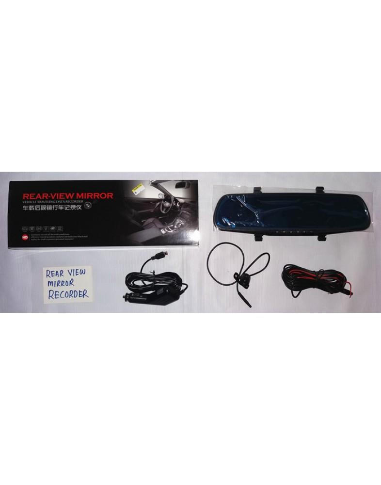 REAR-VIEW MIRROR RECORDER 2 CAMERA RECORDING SYSTEM