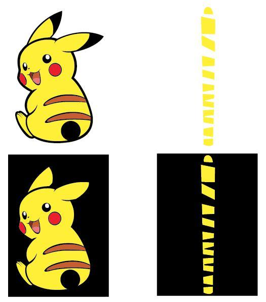 Rear Windscreen Sticker - Pokemon - Pikachu