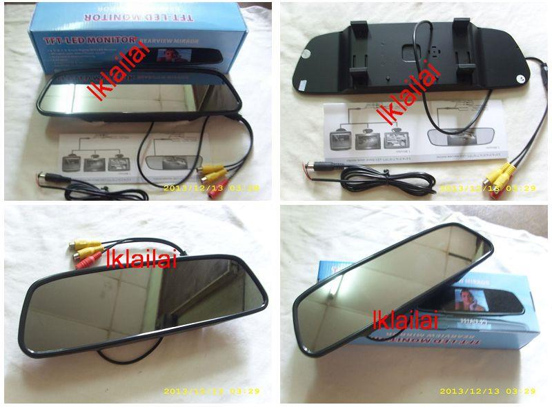 Rearview Mirror with Built-in 4.3' Monitor for Reverse Camera