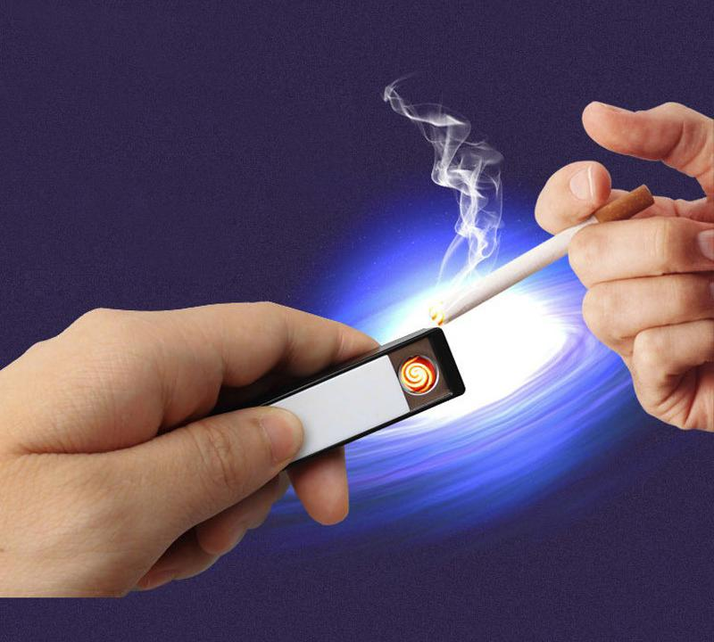 Rechargeable USB Cigarette Lighter with LED Flash Light - Buy 1 Free 1