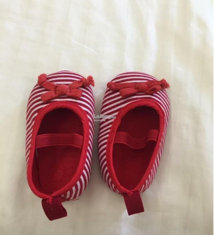 Red Baby Stripey Shoes
