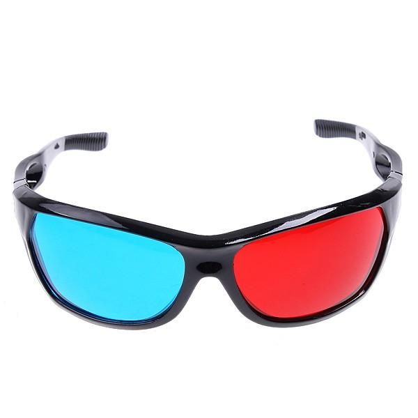 Red & Blue 3D Glasses for Anaglyph Movie DVD Game