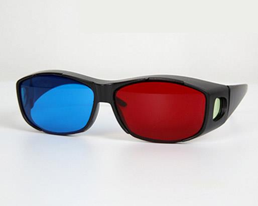 Red And Blue Color Universal Type 3D Glasses