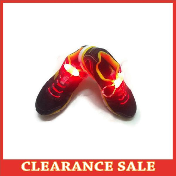 Red LED Lighted Shoelace