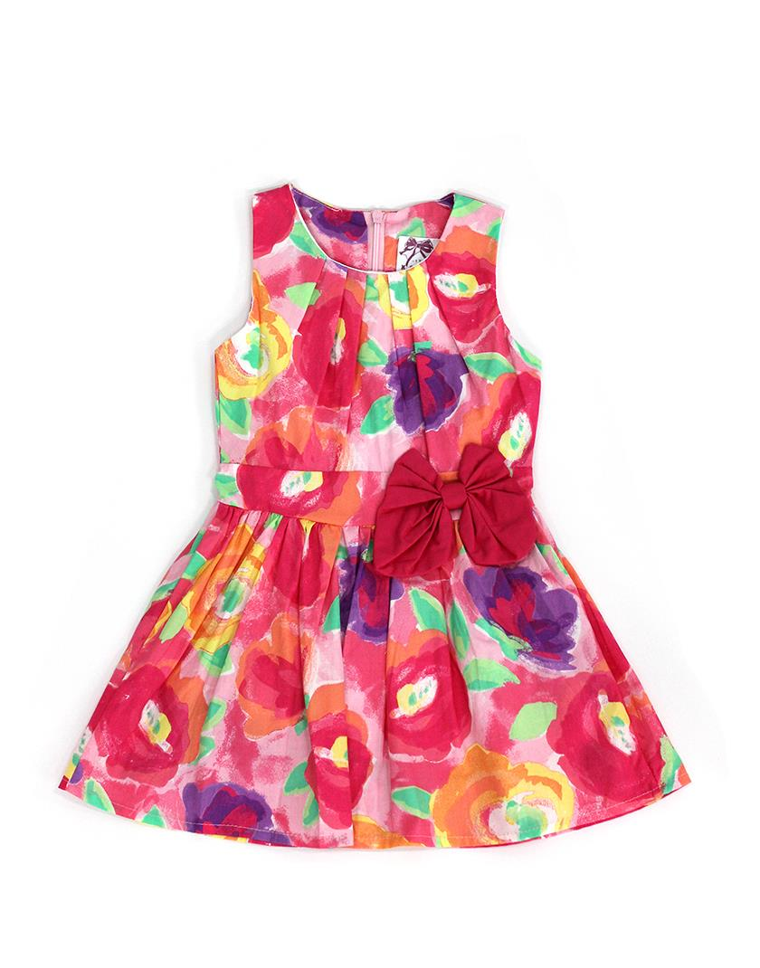 Red Ribbon Painting Flora Dress