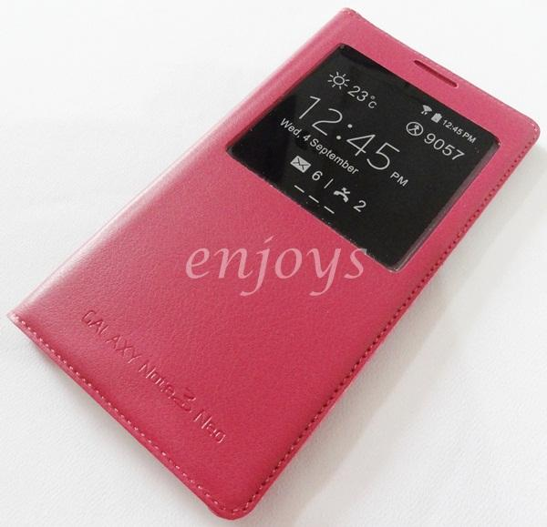 RED S View Function w/ IC Cover Samsung Galaxy Note 3 Neo N7500 N7505
