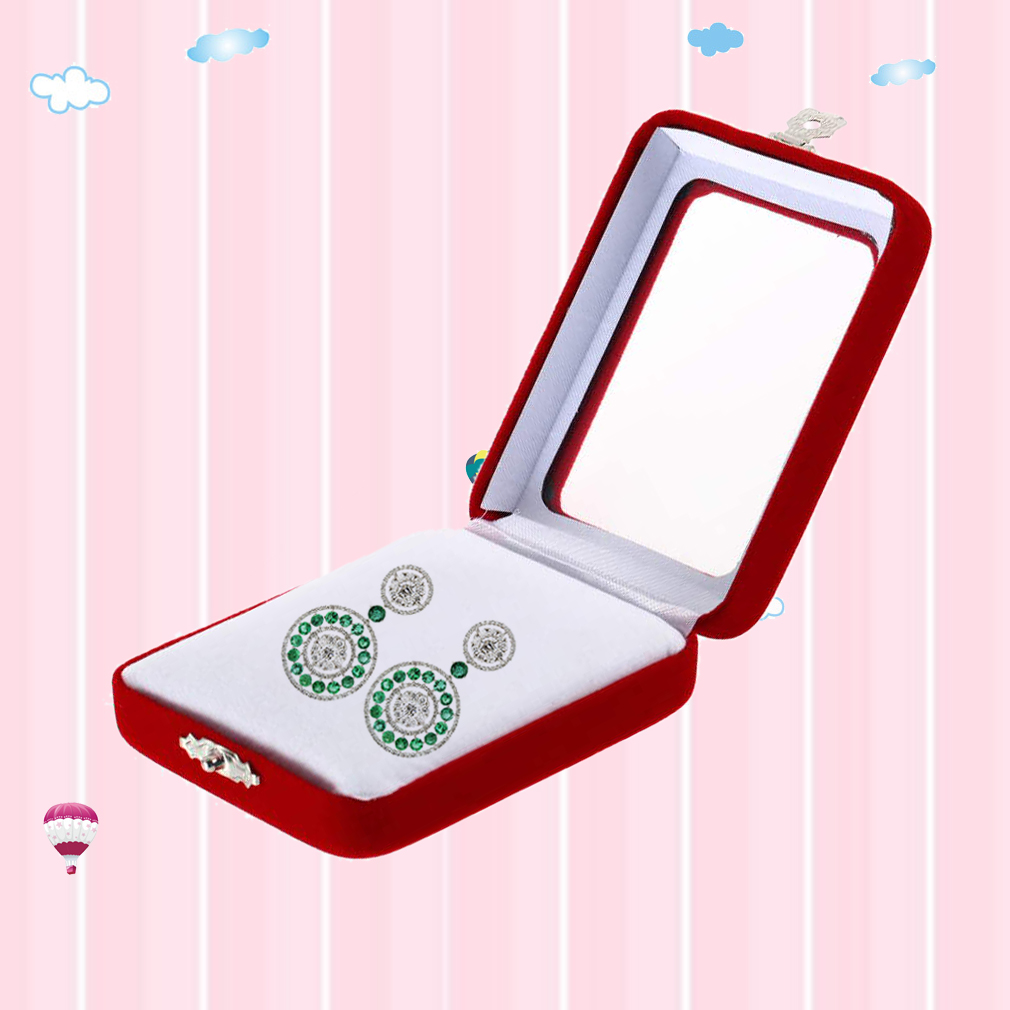 Red velvet gift jewelry box case di end 12 27 2017 2 59 pm for Red velvet jewelry gift boxes