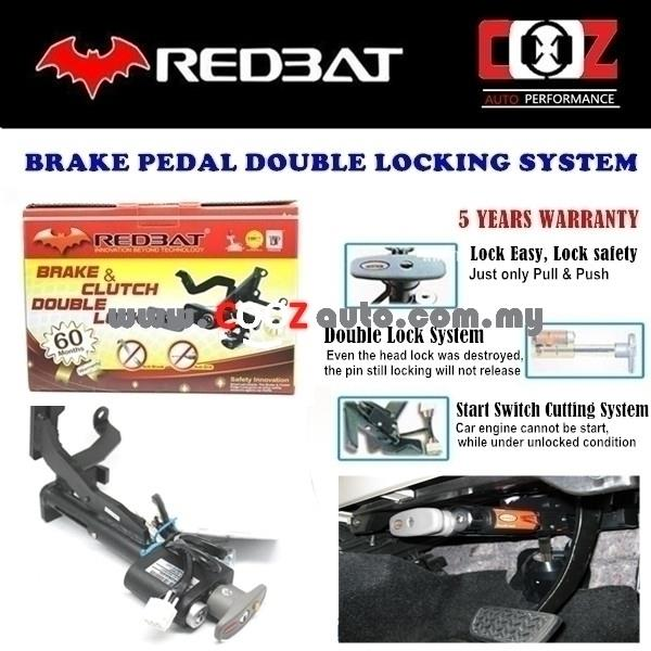 REDBAT DOUBLE BRAKE PEDAL LOCK PERODUA VIVA (MANUAL)
