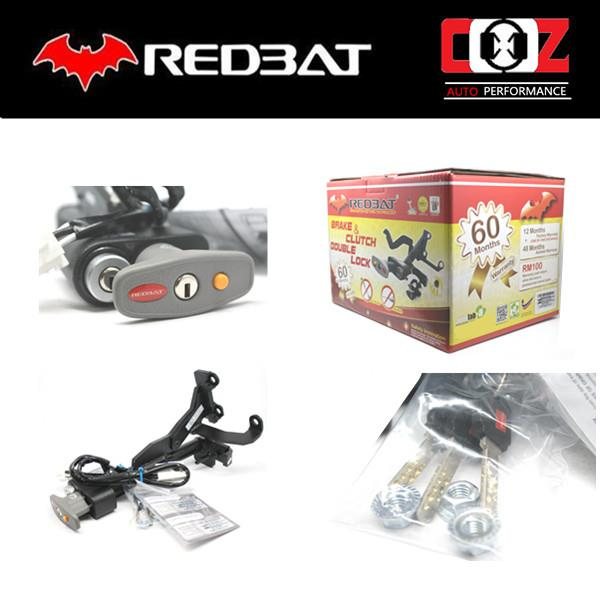 REDBAT DOUBLE BRAKE PEDAL LOCK VOLKSWAGEN GOLF GTI 2011-2013