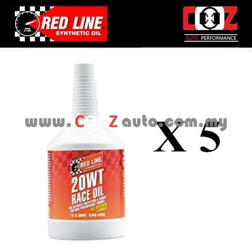 REDLINE 5W20 20WT Drag Race Racing Engine / Motor Oil (5 BOTTLE)