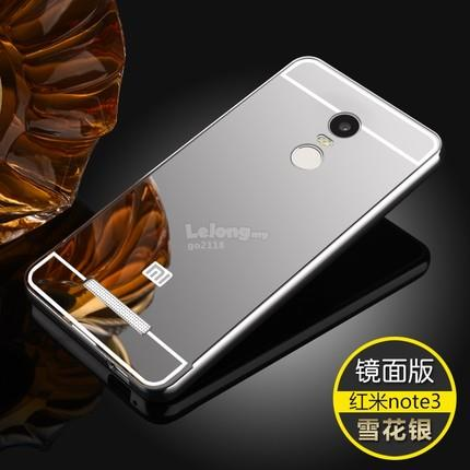 Redmi Hongmi mi note 3 4 mirror bumper case casing cover + tempered