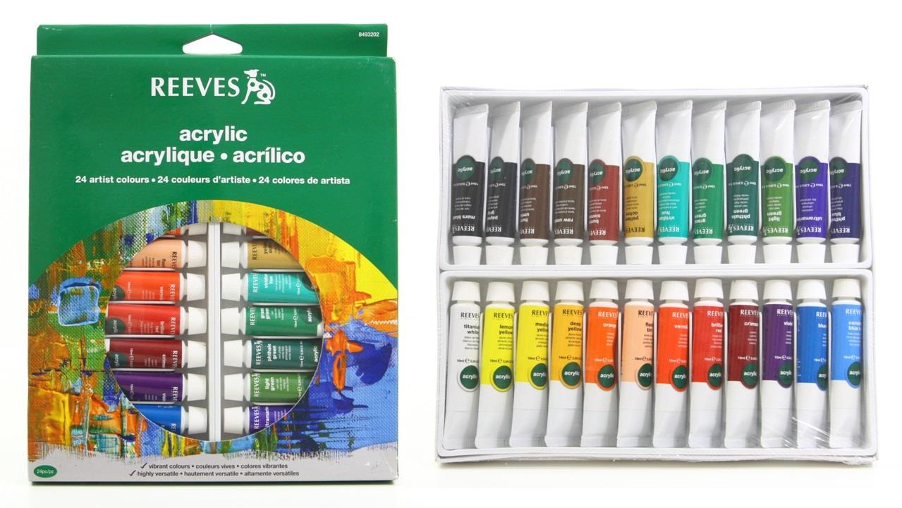 REEVES Acrylic Color Paint 24 Colours Tube