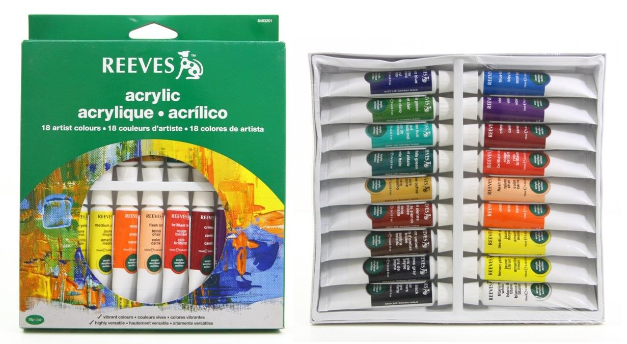 Reeves Acrylic Paint Set Review