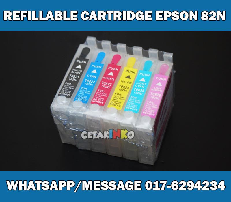 REFILLABLE CARTRIDGE EPSON 82N AUTO RESET CHIP