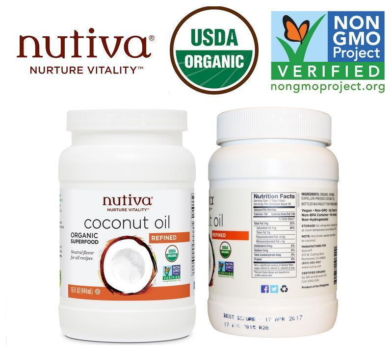 Refined Organic Superfood Coconut Oil, Made in USA (444ml)