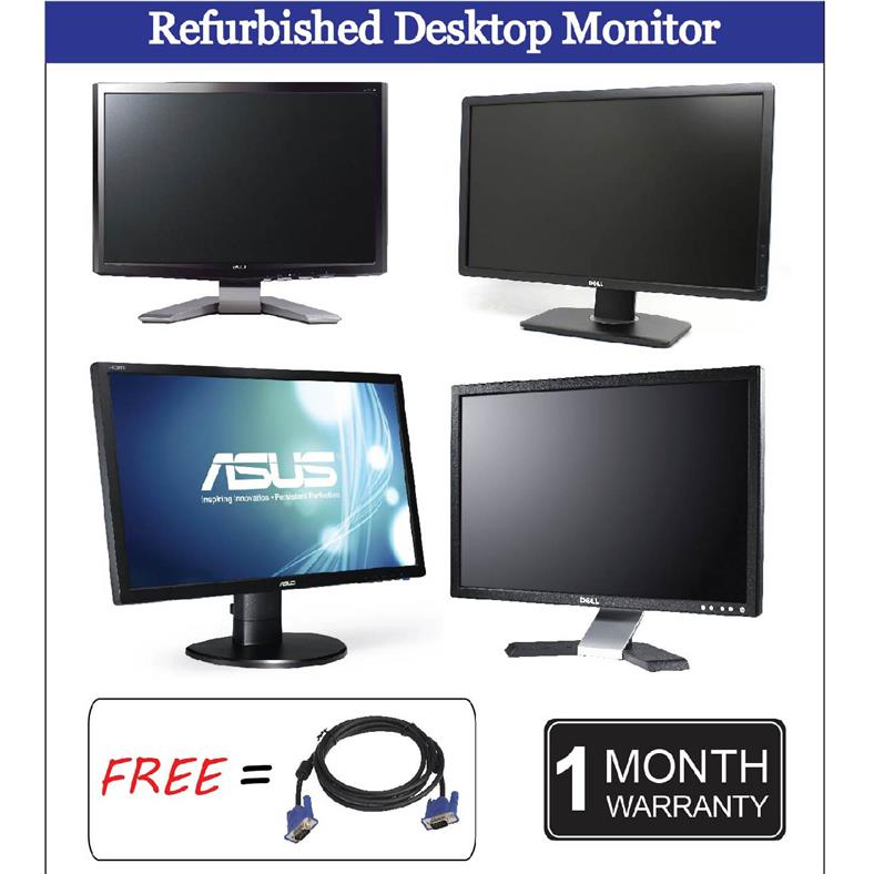 REFURBISHED Acer Dell HP Samsung Monitor 24' Grade A