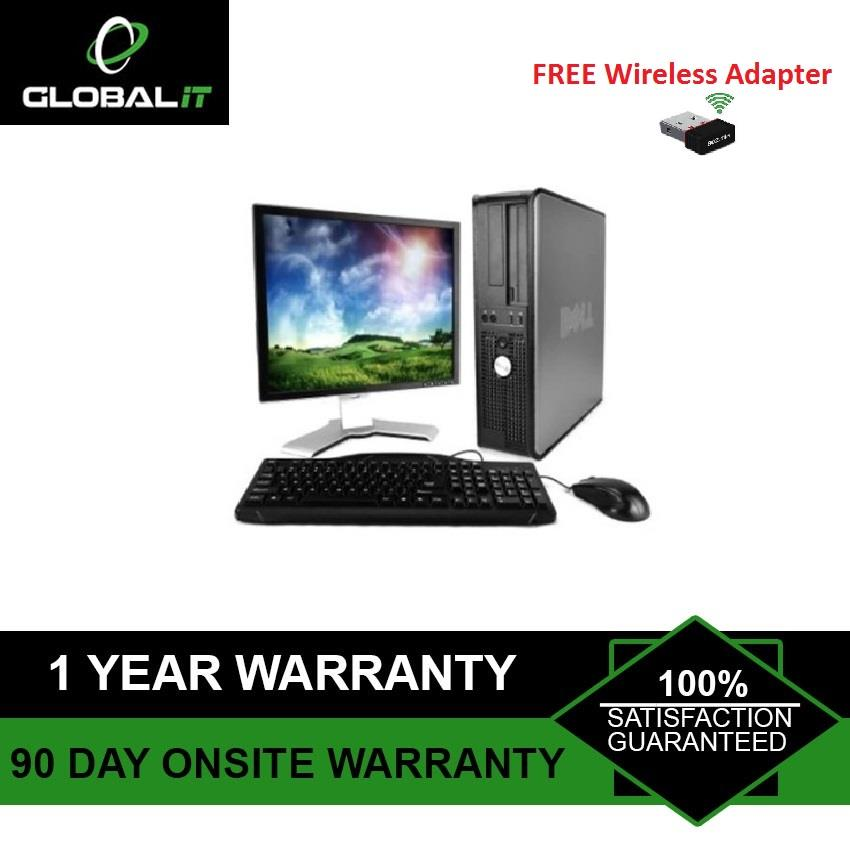 (Refurbished Desktop)DELL OPTIPLEX 780 + 17″ LCD MONITOR