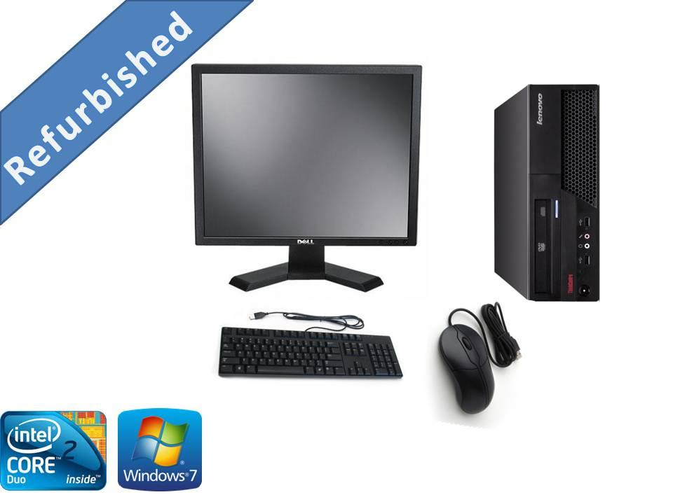 (Refurbished)Lenovo M58p Intel Core2duo/2GB/320GB/Win7+Dell 19 Monitor