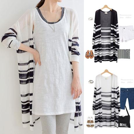 Relax Long-sleeve Long Knit Jacket