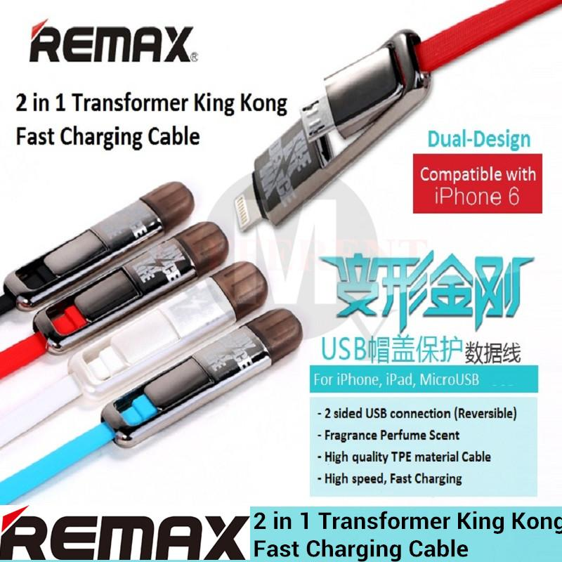 REMAX 2 in 1 Transformer KingKong Apple Lightning & Micro Data Cable