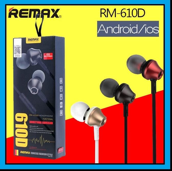REMAX 610D High Quality Stereo In-ear Earphone Headset With Mic