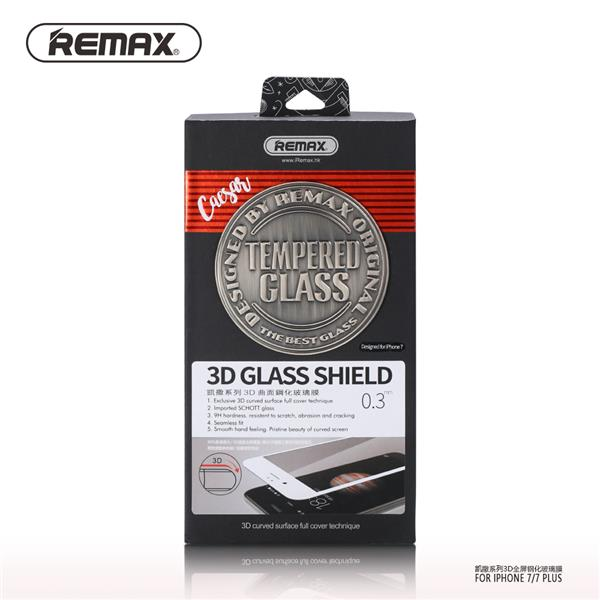 REMAX Caesar 3D Curve Shield iPhone 7 Tempered Glass White