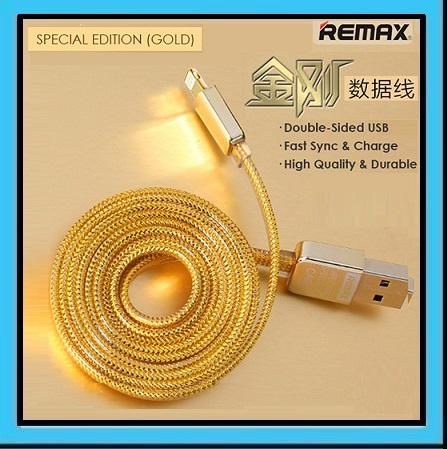 REMAX Gold Fast Charging Apple Lightning / Micro 2 Side USB Data Cable