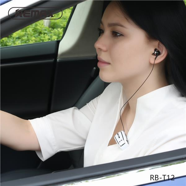 REMAX RB-T12 Collar Clip Bluetooth Earphone Headset Rose Gold