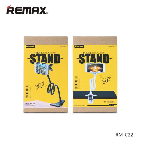Remax RM-C22 Flexible Long Arm Lazy Bed Phone Clamp Holder Mount Stand