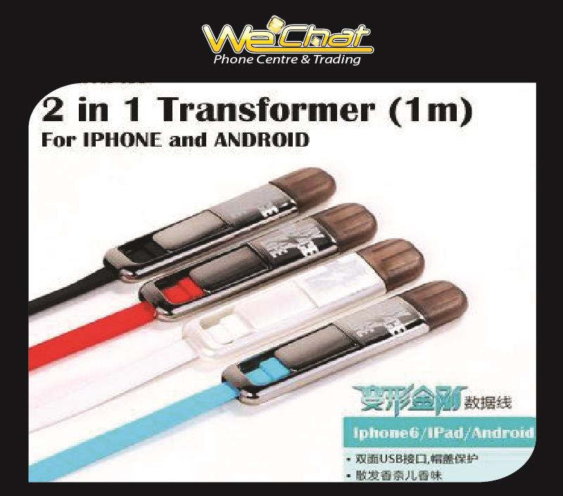 Remax Transformers 2 in 1 High Speed Charge Apple/Iphone - Micro USB c